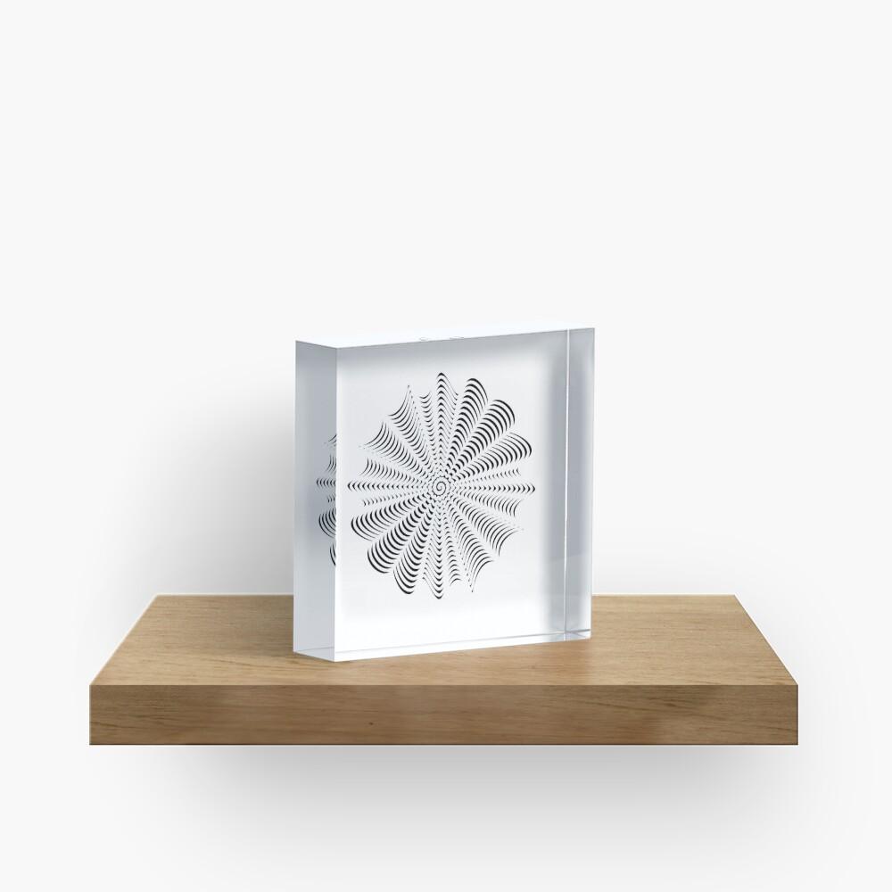 Decorative Pattern Acrylic Block