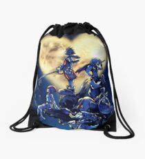 Kingdom Hearts Book Drawstring Bag