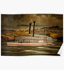 The Robert E Lee Paddle Wheeler Poster