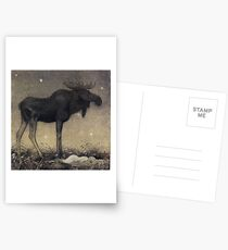 John Bauer, the Elk 2 Postcards