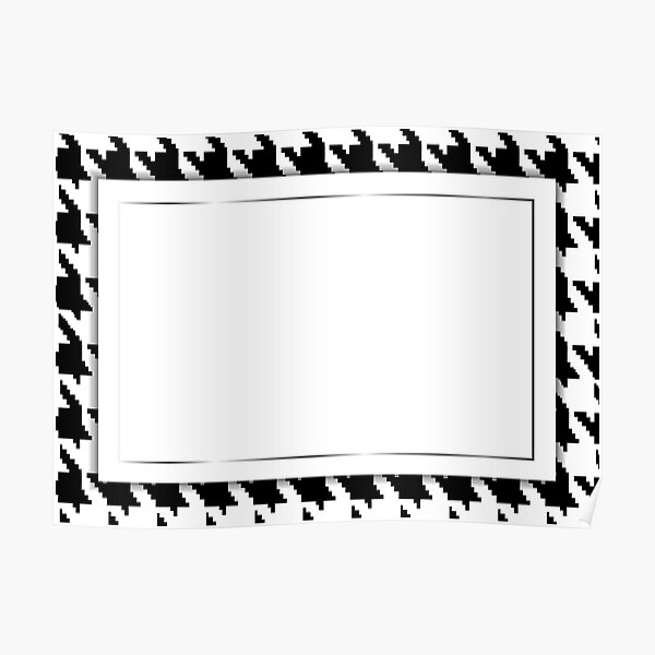 Hounds-tooth vector pattern as a frame for a greeting card. Poster