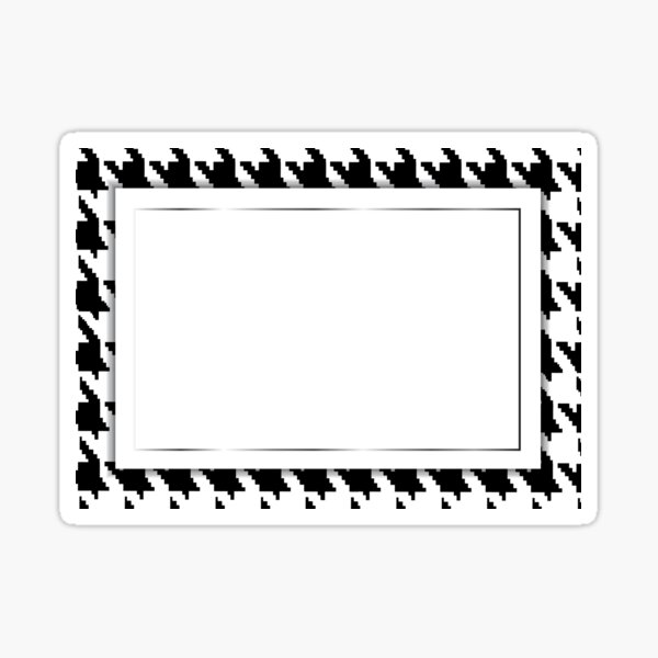 Hounds-tooth vector pattern as a frame for a greeting card. Sticker