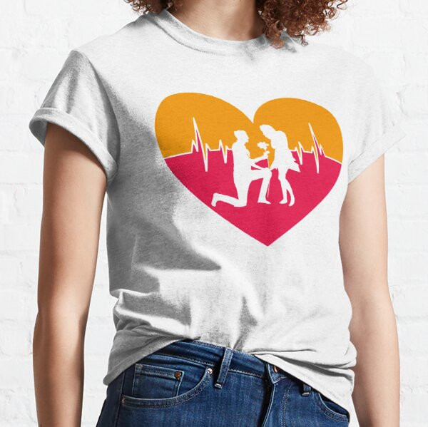 Propose from Love Heartbeat Classic T-Shirt