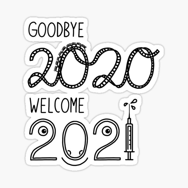From 2020 to New Year 2021 Sticker