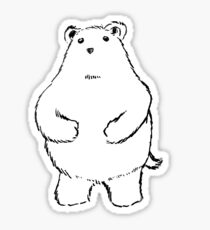 Shy Bear. Sticker