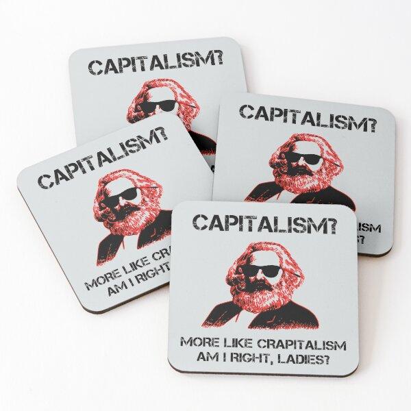 entonces esta divertida camiseta comunista es para ti. La camiseta de Karl Marx para comunistas también es un gran regalo político para los comunistas. Posavasos (lote de 4)