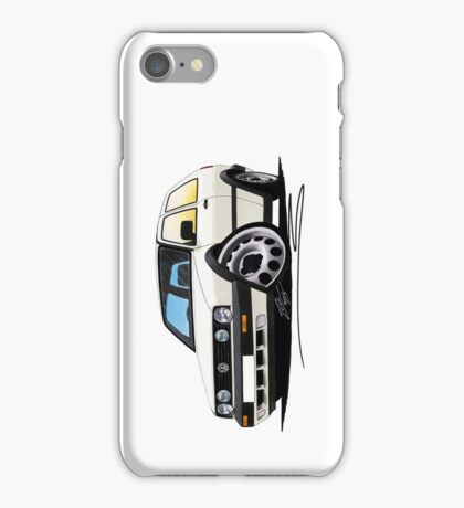 VW Golf (Mk2) (Twin Headlights) White iPhone Case/Skin