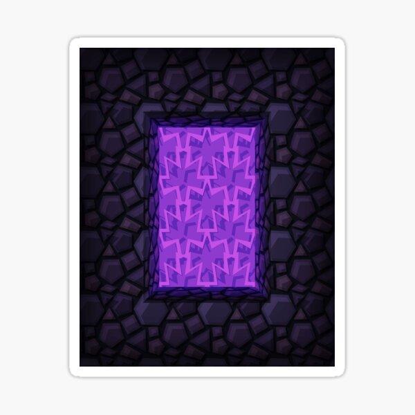 Obsidian Nether Portal - PureBDcraft Sticker