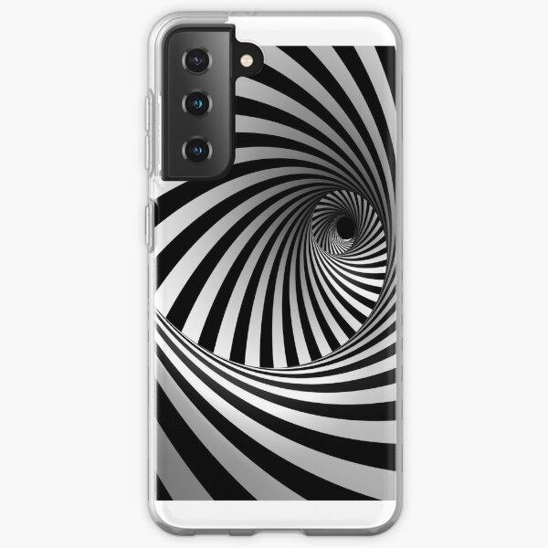 Op art  black white Samsung Galaxy Soft Case