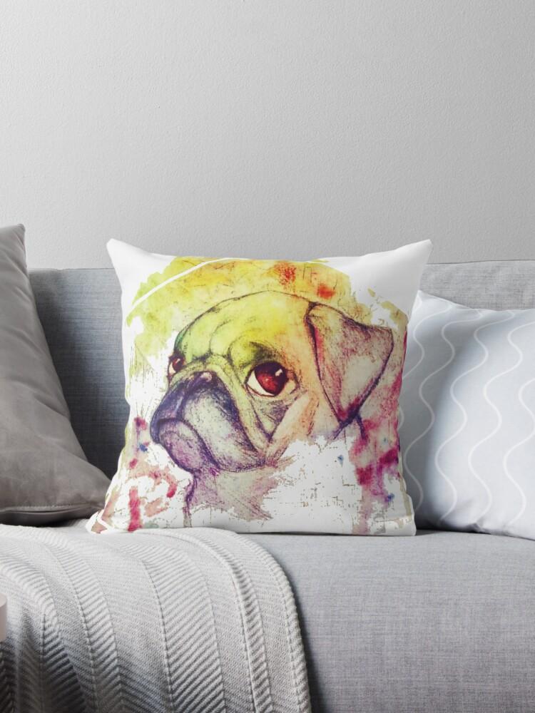 Rainbow Pug by SugarHit