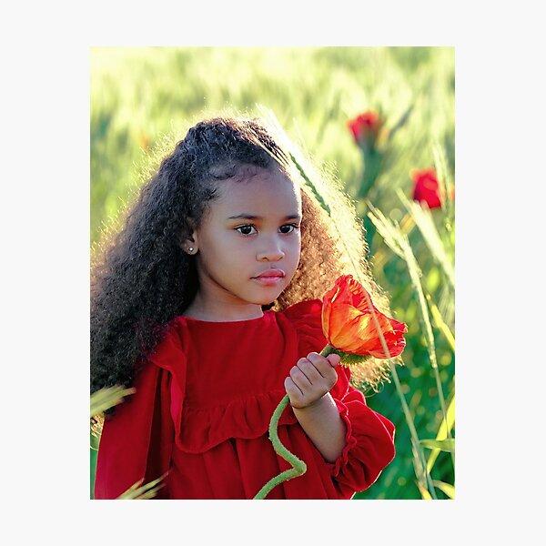 Baby girl loving  in Nature.... Photographic Print