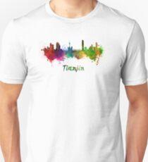Tianjin skyline in watercolor Unisex T-Shirt