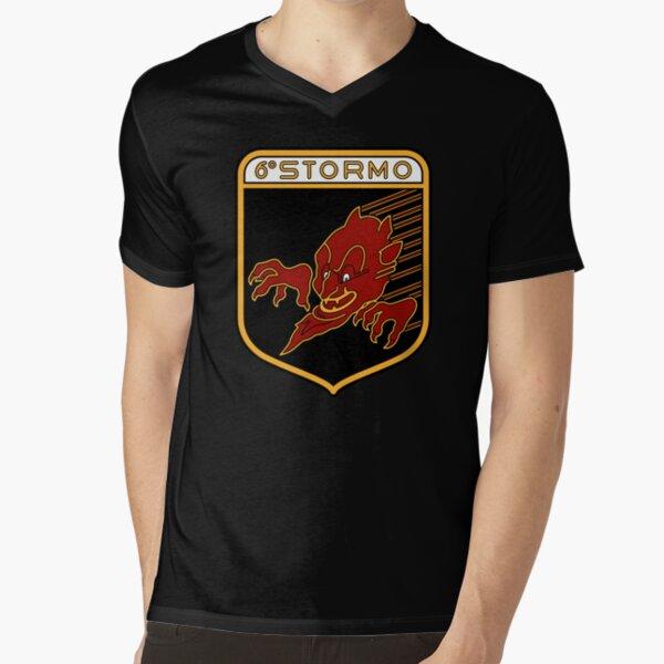 "6° Stormo ""Diavoli Rossi"" V-Neck T-Shirt"