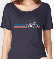 Bike Stripes French National Road Race v2 Women's Relaxed Fit T-Shirt