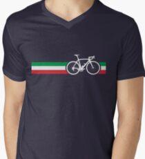 Bike Stripes Italian National Road Race Men's V-Neck T-Shirt
