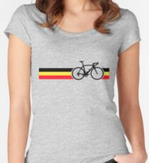 Bike Stripes Belgian National Road Race Women's Fitted Scoop T-Shirt