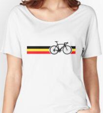 Bike Stripes Belgian National Road Race Women's Relaxed Fit T-Shirt