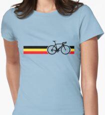 Bike Stripes Belgian National Road Race Womens Fitted T-Shirt