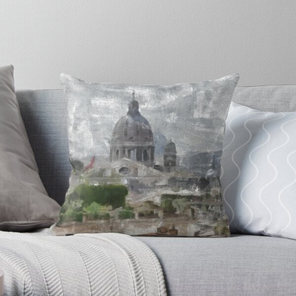 The City of Rome Throw Pillow