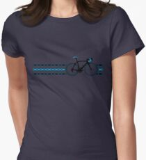 Bike Stripes Team Sky - Chain Women's Fitted T-Shirt