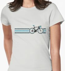 Bike Stripes Team Sky - Chain Womens Fitted T-Shirt