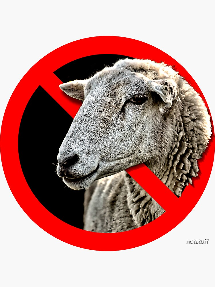 Don't Be A Sheep - Don't Follow the Crowd by notstuff