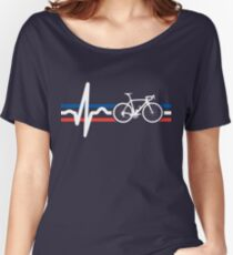 Bike Stripes France - Heartbeat Women's Relaxed Fit T-Shirt