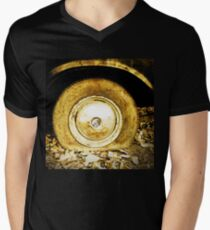 Vintage old wheel of classic car Mens V-Neck T-Shirt