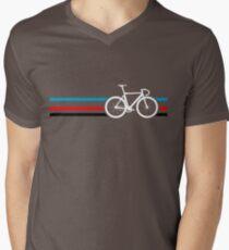 Bike Stripes Velodrome Men's V-Neck T-Shirt