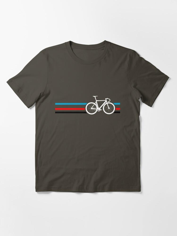 Alternate view of Bike Stripes Velodrome Essential T-Shirt