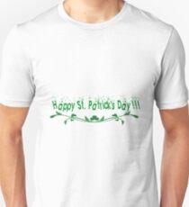 Happy Saint Patrick's day floral art Unisex T-Shirt