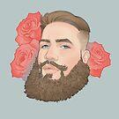 Men on Roses 1 - Nigel by Curtis Bathurst