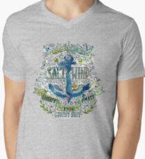 Salt and wind.. Mens V-Neck T-Shirt