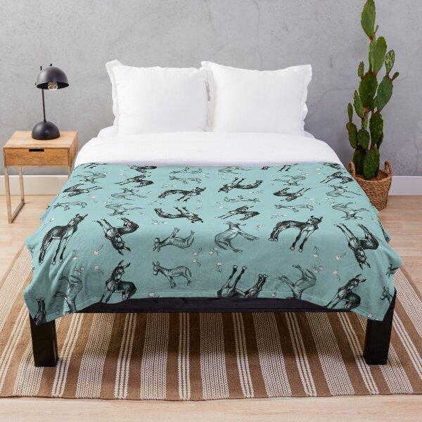 Donkeys and Dandelions Throw Blanket