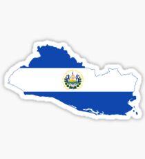 Flag Map of El Salvador  Sticker