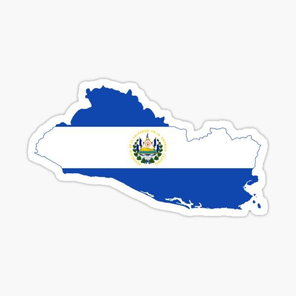 Mapa de la bandera de El Salvador Pegatina