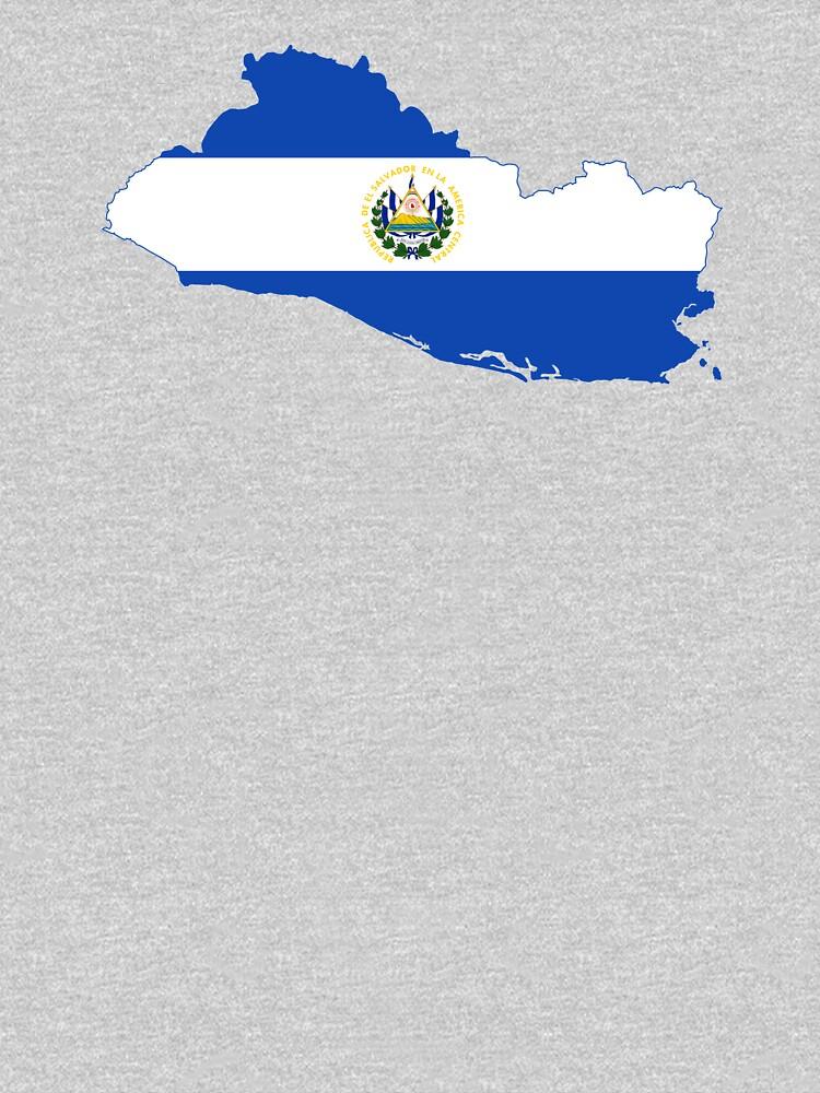 Flag Map of El Salvador  by abbeyz71