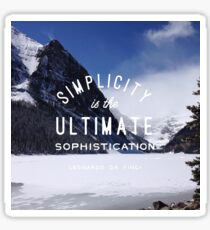 mountain simplicity is the ultimate sophistication nature typography Sticker