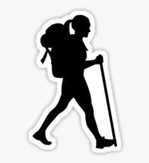 Pegatina Hiking girl woman