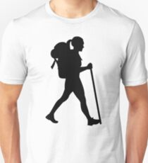 Hiking girl woman Unisex T-Shirt
