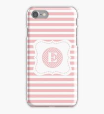 Striped Letter E iPhone Case/Skin