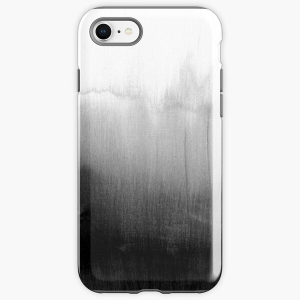 Modern Black and White Watercolor Gradient iPhone Tough Case