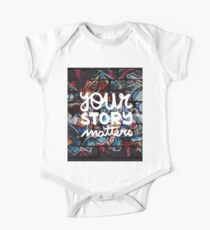 colorful hip hop grunge your story matters graffiti  One Piece - Short Sleeve