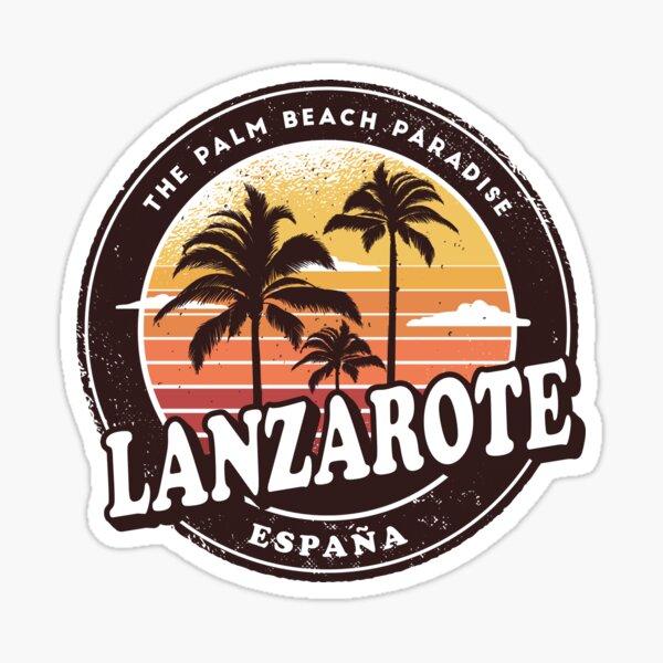 Lanzarote España Vintage Beach Design Pegatina