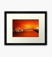 Harbor rays  Framed Print