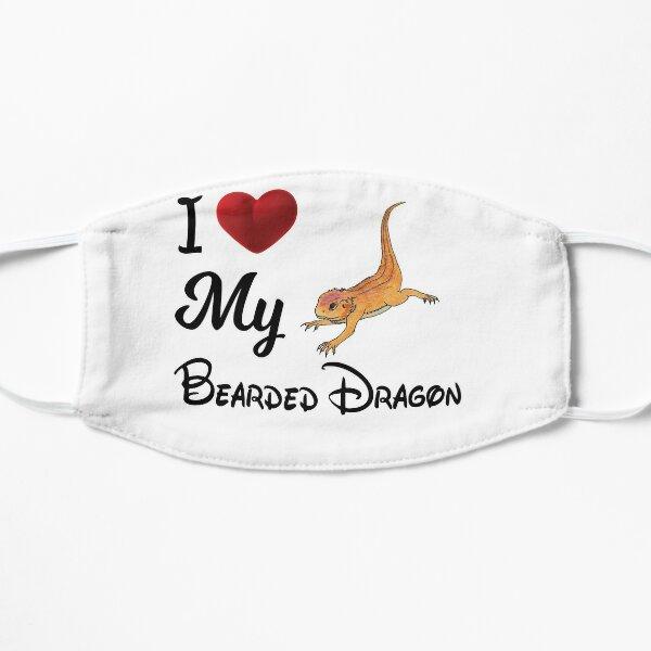 I Love My Bearded Dragon Funny Bearded Dragon T-shirt Gift Flat Mask
