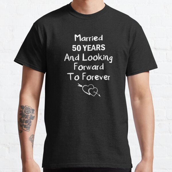 50 aniversario de bodas lindo aniversario de bodas Camiseta clásica
