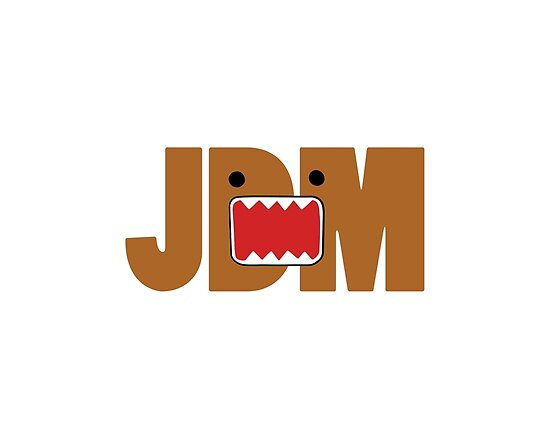 domo monster in jdm letters posters by apexfibers redbubble