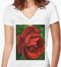 Scarlet rose Women's Fitted V-Neck T-Shirt