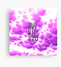 Dream Big Typography and Purple Clouds Canvas Print